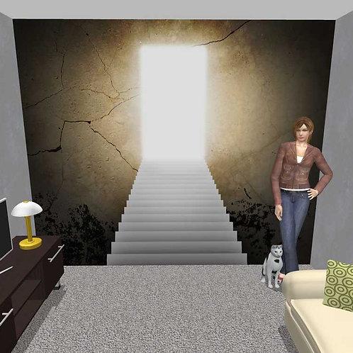 3D Wand Treppe Mystik (Belag)