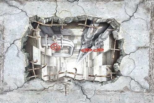 0008 Beton Durchbruch Schacht (Platte) ab
