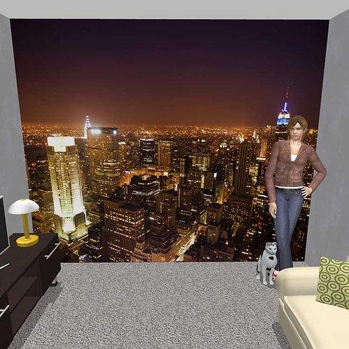3D Wand Stadt (Belag)