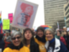 Patsy and Friends at Women's March in As