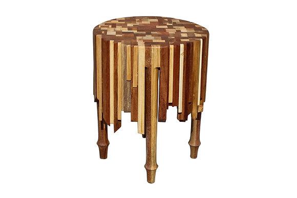 Reclaimed wood side table by studio ORYX