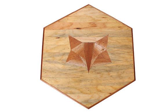 Hexagonal Scrap Wood Fox Side Table