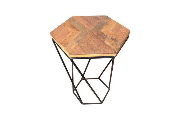 Hexagonal Scrap wood night stand
