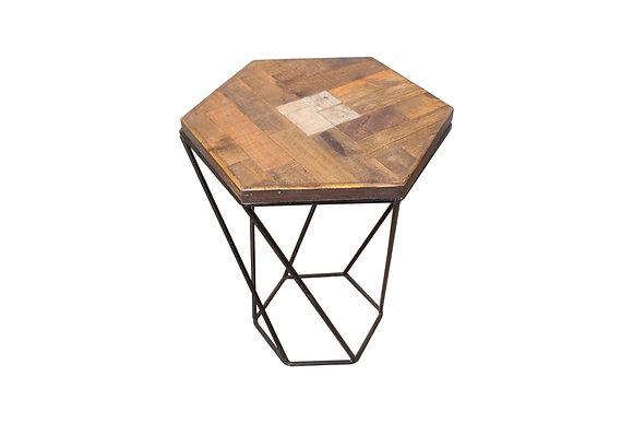 Hexagonal Scrap wood night stand