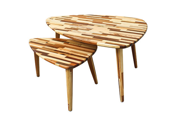 Reclaimed wood coffee table by Studio ORYX