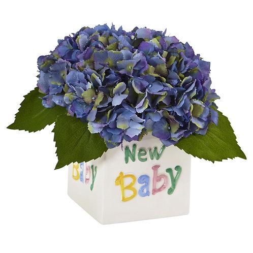 New Baby Artificial Hydrangea Arrangement