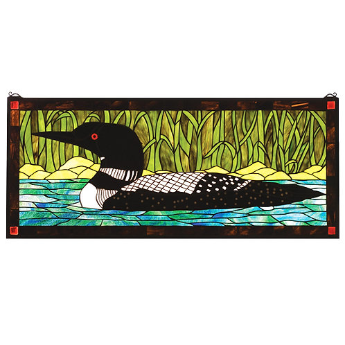 Loon Stained Glass Window Hanging by Meyda
