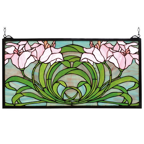 Lily Stained Glass Window Hanging by Meyda