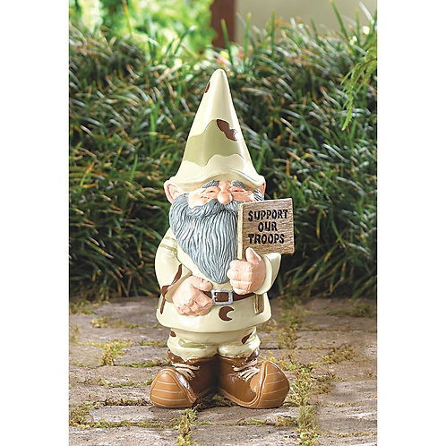 Support Our Troops Gnome Statue