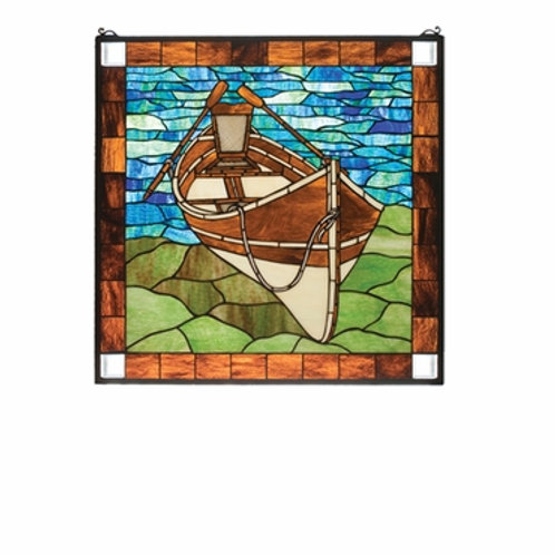 Guideboat Stained Glass Window Hanging by Meyda