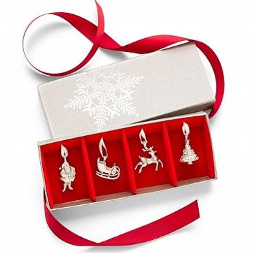 Saint Nicholas Pewter Ornament Set