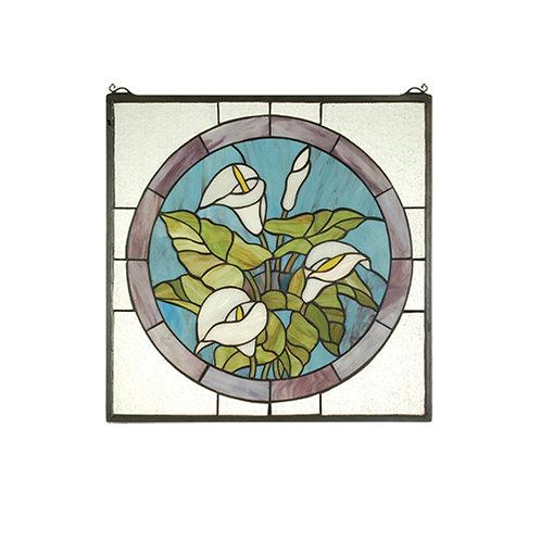 Meyda Calla Lily Stained Glass Window