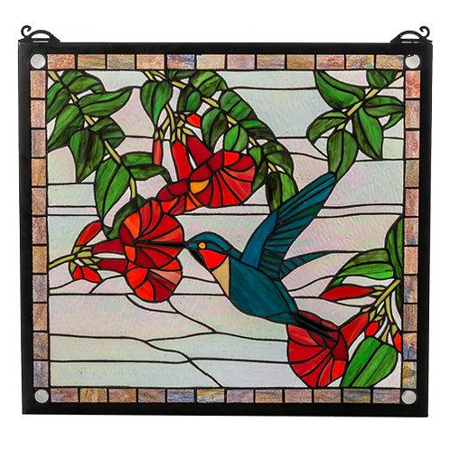 Hummingbird Stained Glass Window by Meyda