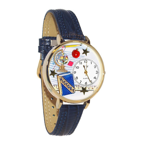 History Teacher Watch-Gold or Silver