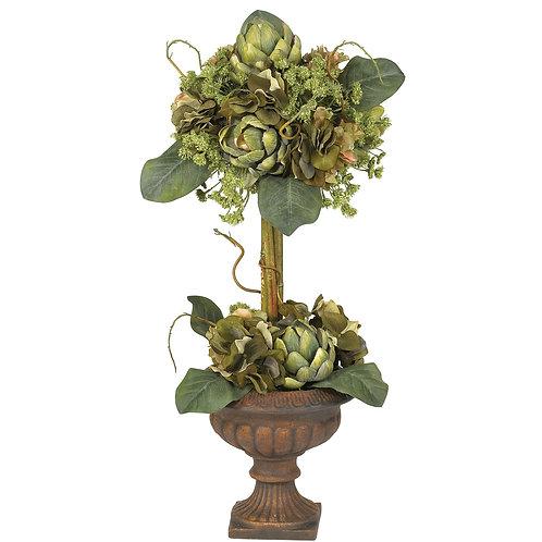Artificial Artichoke Topiary Arrangement