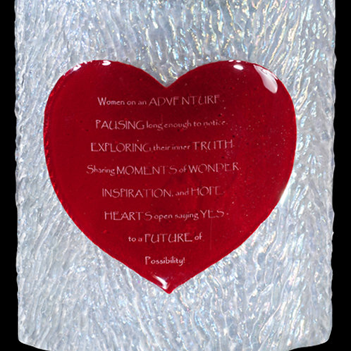 Fusion Heart Personalized Glass Tabletop Panel