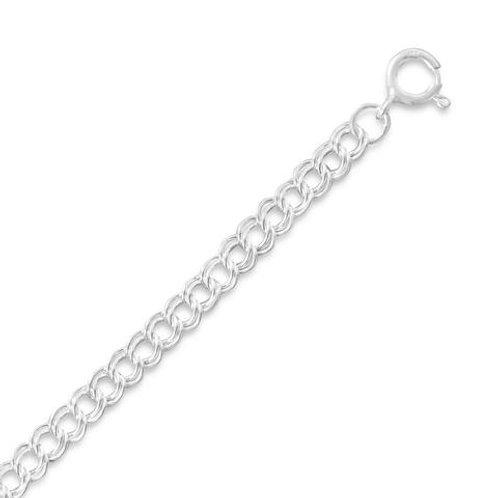 "Sterling Silver Light Charm Bracelet 6""-7""-8"""