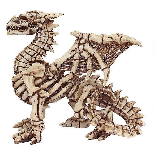 Gothic Dragon Skeleton Statue
