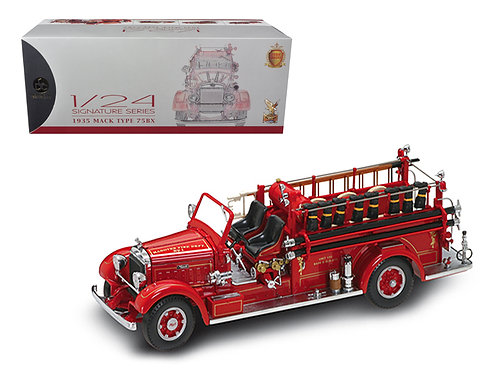 1935 Mack Type 75BX Red Fire Truck Diecast Model