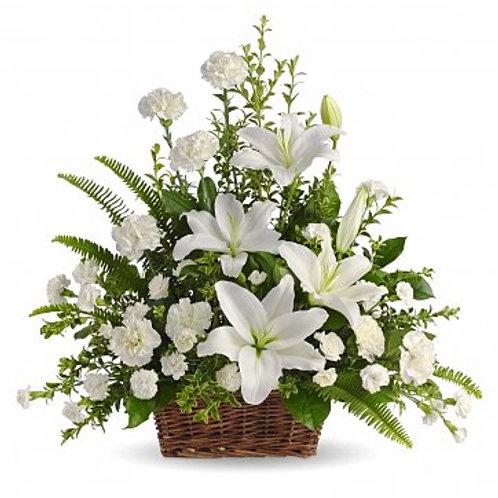 White Blossoms Basket