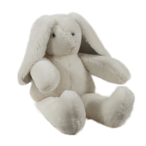 Stuffed Lop-Eared Rabbit made of genuine sheepskin