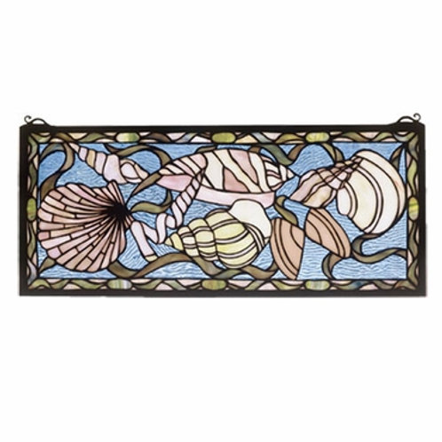 Seashell Stained Glass Window Hanging by Meyda