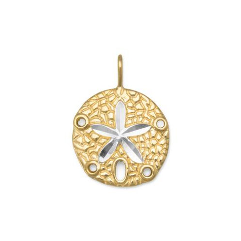 Gold Plated Sand Dollar Pendant