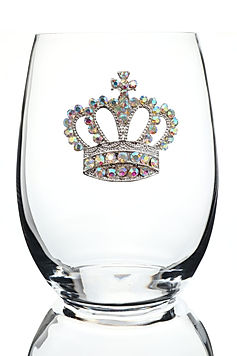Crown Aurora-Borealis-Jeweled-Stemless-W