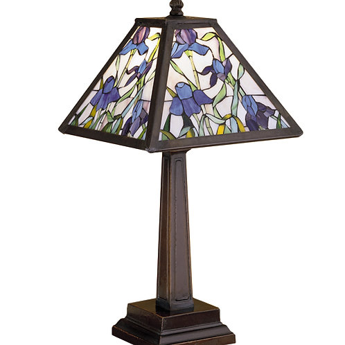 Stained Glass Lamp, Mosaic Iris by Meyda