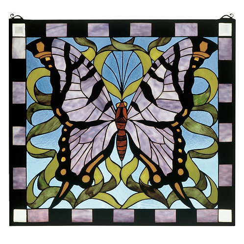 Stained Glass Butterfly Window Hanging by Meyda