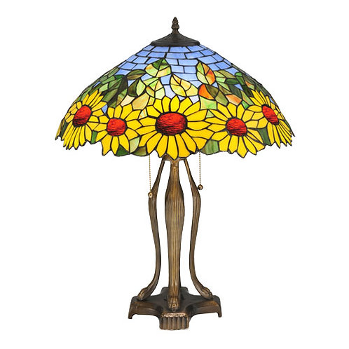 Sunflower Stained Glass Table Lamp by Meyda