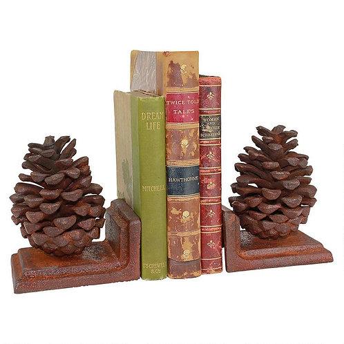 Pine Cone Cast Iron Bookends