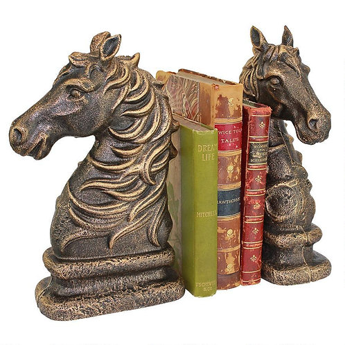Stallion Horse Cast Iron Book Ends