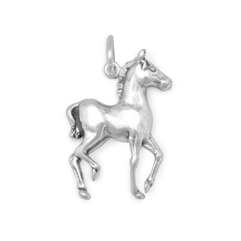 Sterling Silver Prancing Horse Charm