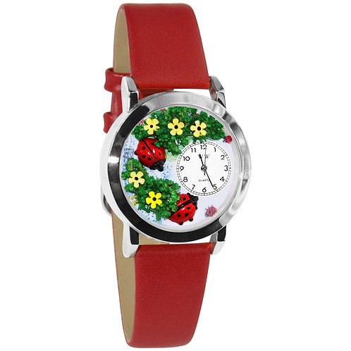 Lady Bug Watch-Small, Gold or Silver