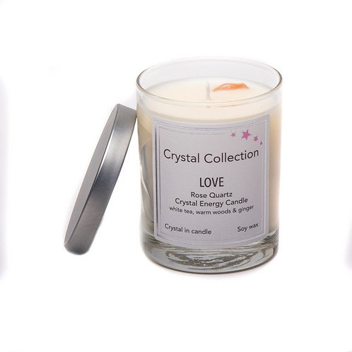 Crystal Energy Candles, 1 Wick 6.5 Ounce