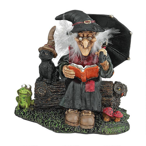Book of Spells Miniature Reading Witch Statue