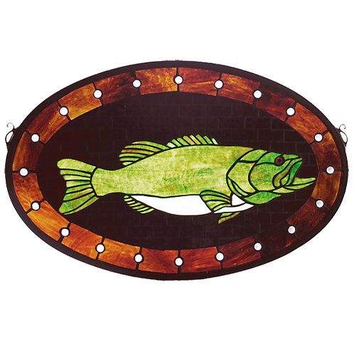 Bass Stained Glass Window Hanging by Meyda