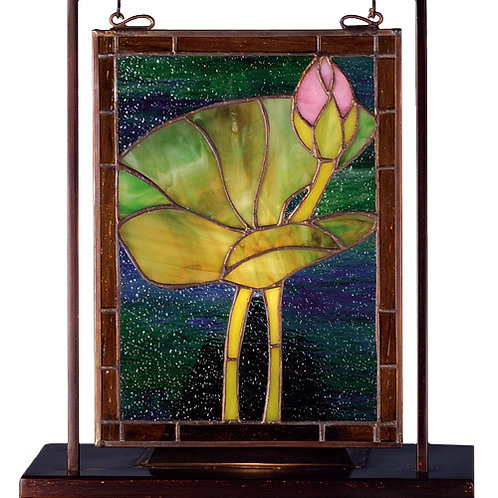 Pond Lily Lighted Mini Tabletop Window by Meyda