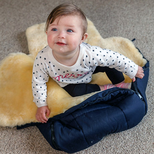 Baby Bunting Bag Made with Soft Sheepskin