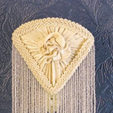 Fabric & Beaded Fringe Floral Night Light