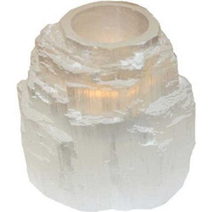 Selenite Iceberg Tealight Candle Holder