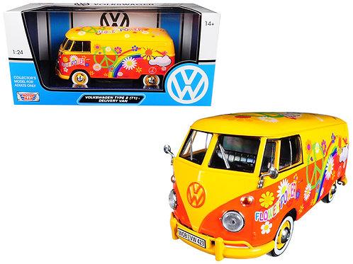 Flower Power Volkswagen Van die cast model