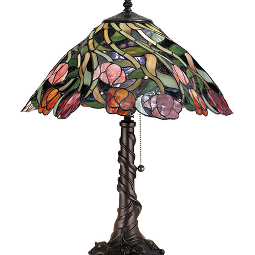 Spiral Tulip Stained Glass Table Lamp by Meyda