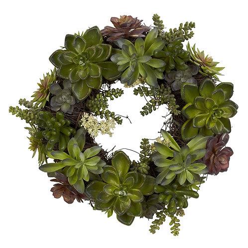 20 Inch Artificial Succulent Wreath