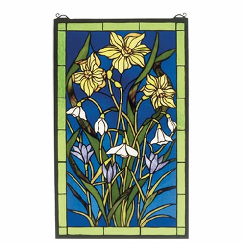 Spring Bouquet Stained Glass Window by Meyda