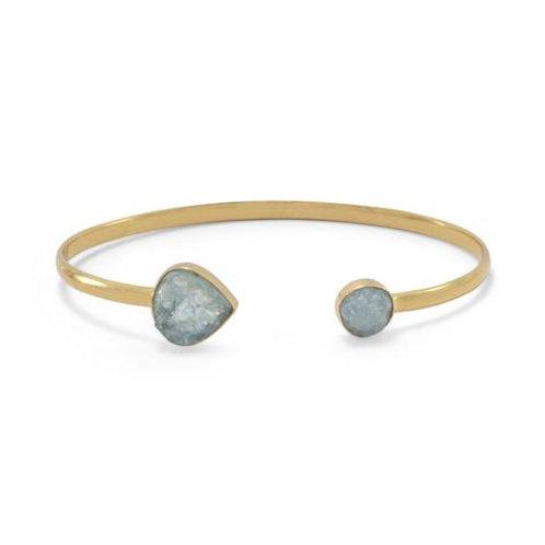 Aquamarine Cuff Bracelet