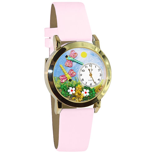 Dragonflies Watch - Small, Gold or Silver