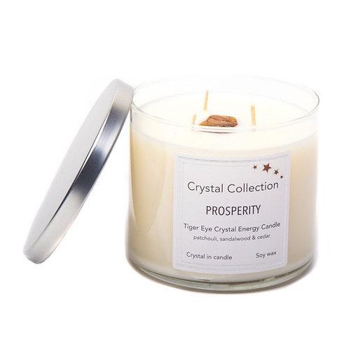 Crystal Energy Candles, 3 Wick Jumbo 18 Ounce