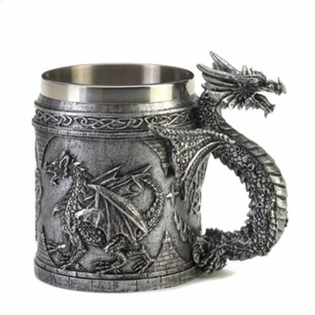 Stainless Steel  Lined Dragon Mug